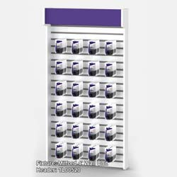 """Purple Graphic for Milford 4' Wall - 47.5"""" x 9.25"""" (45FRONM4WALLHDR)"""