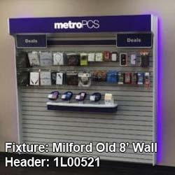 """Purple Graphic for Old Milford 8' Wall - 95.75"""" x 9.25"""" (45FRONMOLD8WALLHDR)"""