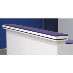 Modular POS Illuminated Triple Check Signing Ledge 106.5w x 3h