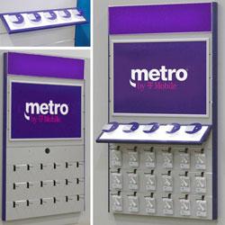 MetroPCS Fully Illuminated Angled Shelf