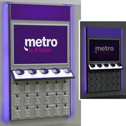 Metro Purple LED Lighting Kit for Wall Displays