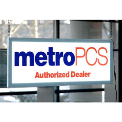 "MetroPCS Double-Sided LED Sign 36""w x 12.6"" h x .75"" d"