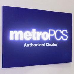 """MetroPCS 72""""w 3D Illuminated Wall Sign"""