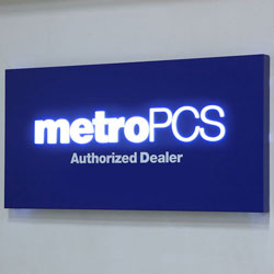 "MetroPCS 60""w 3D Illuminated Wall Sign"